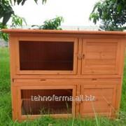 Деревянный домик для кроликов (1) фото