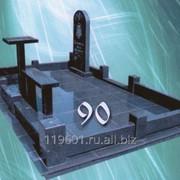 Комплексное исполнение надгробия из гранита №90 фото