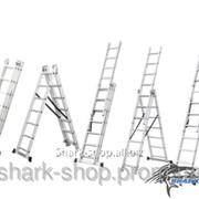 Лестница раскладывающаяся универсальная 9 ступеней, 5.92м 5110091 фото