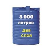 Резервуар для хранения и транспортировки промышленных масел 3000 литров, синий, верт фото