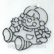 LEeho. трафарет витражный малый s doll кукла (822261) фото