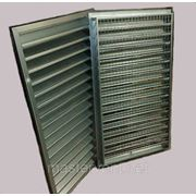 Решетка вентиляционная 500х500мм наружная прямоугольная проемная фото