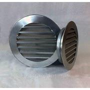 Решетка вентиляционная наружная круглая D=100мм фото