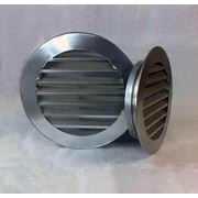 Решетка вентиляционная наружная круглая D=160мм фото