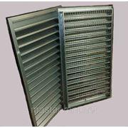 Решетка вентиляционная 400х700мм наружная прямоугольная проемная фото