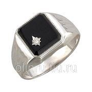 Перстень из серебра фото