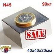 Неодимовый магнит П-40x40x20 фото