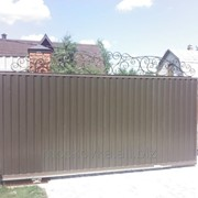 Ворота откатные 5 фото