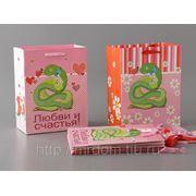 Комплект пакетов бумажных подарочных из 6 шт.23*18*10 см. (759800) фото