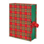 Коробка переплетная книга-шкатулка ШОТЛАНДКА 25х35 см