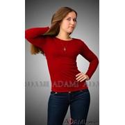 Красный женский джемпер, Артикул №285766 фото