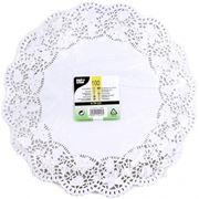 Кружевная салфетка для торта круглая 34см 100шт (785411) фото