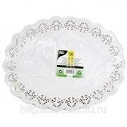 Кружевная салфетка для торта овальная 36см 100шт (785414) фото