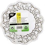Кружевная салфетка для торта круглая 18см 100шт (785409) фото