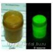 Алкидная ударостойкая тиксотропная эмаль Luminofor Glow SOLVENT Green, светящаяся в темноте, для стекла, металла, пластика, бетона, керамики. Зеленое фотография