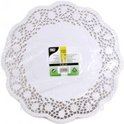 Кружевная салфетка для торта круглая 32см 100шт (785410) фото