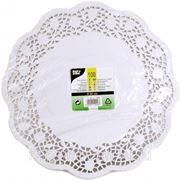 Кружевная салфетка для торта круглая 32см 100шт (785410)