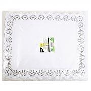 Кружевная салфетка для торта прямоугольная 36х46см 100шт (785415) фото