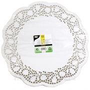 Кружевная салфетка для торта круглая 38см 100шт (785413) фото
