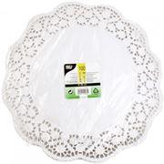 Кружевная салфетка для торта круглая 36см 100шт (785412) фото
