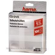 HAMA H-33810 Конверт для CD/DVD полипропилен, 100 шт., прозрачный фото