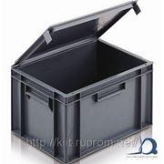 Евроконтейнеры для штабелирования с крышкой Euro stacking containers with lids фото