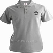 Рубашка поло Opel серая вышивка черная фото