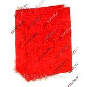 Подарочный пакет 26х32х12, бумажный, МИШУРА, красный GF 1315 фото