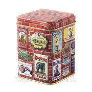 """Банка для чая """"brique"""" 74*74*95 мм.100 гр.без упаковки (840971) фото"""