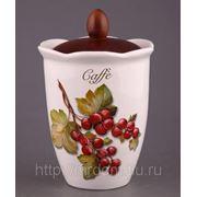 """Банка для кофе """"лесные ягоды"""" высота=19 см.диаметр=13 см. (685747) фото"""