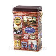 """Банка для кофе """"brique"""" 123*80*197 мм.500 гр.без упаковки (840978) фото"""