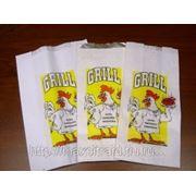 Пакеты для кур-гриль,ПНД ламинированные,без печати,19+6х33/200 фото