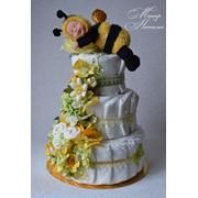 Торт из памперсов Спящая пчелка Анны Геддес фото