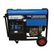 Дизель генератор TSS SDG 6500 EH (электростарт ручки колеса) фото