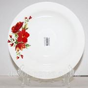 Миска 200 гр8 Красный цветок с063 фото