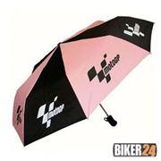 Зонт розовый с логотипом MotoGP фото