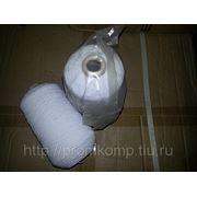 Нить латексная оплетенная полиэфиром №63, белая (Китай) фото