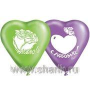 Набор шаров 1111-0362 сердце 4шт/и (834672) фото