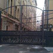 Распашные ворота 8 фото