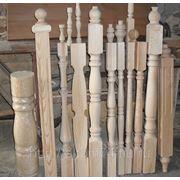 Балясины 45х45 60х60 сосна столбы перила ступени фото