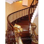 Деревянные лестницы из бука, дуба, сосны и т.д. фото