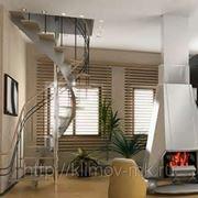 Винтовая лестница на косоурах фото