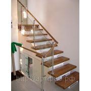 Лестницы с элементами стекла фото