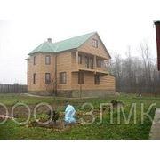 Металлический блок хаус, фасадный сайдинг под дерево фото