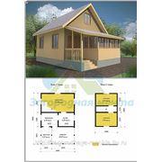 Дом 6х6 с верандой Проект 1 Бр. фото