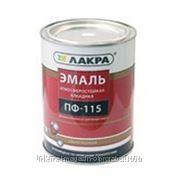 Эмаль ПФ-115 Лакра цв. красный, 1 кг фото