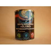"""Эмаль """"Globe"""" противокоррозионная серая RAL 7040 полуглянцевая 0,9 кг фото"""
