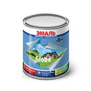 """Эмаль """"Globe"""" универсальная желтая полуглянцевая 0,9 кг фото"""