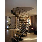 Лестница спиральная (цепная) дуб фото