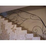 Кованые перила для лестницы фото